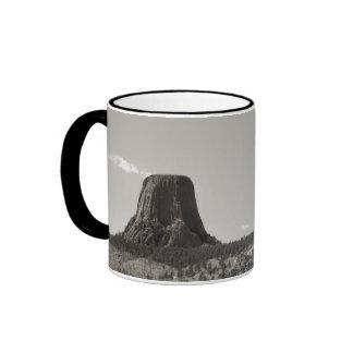 Devils Tower Ringer Coffee Mug