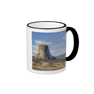 Devils Tower National Monument 3 Ringer Coffee Mug