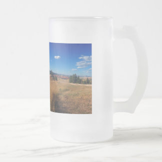 Devils Tower National Monument Frosted Glass Beer Mug