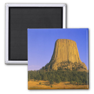 Devils Tower National Monument in Wyoming 2 Inch Square Magnet
