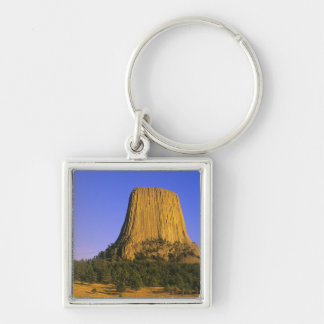 Devils Tower National Monument in Wyoming Keychain
