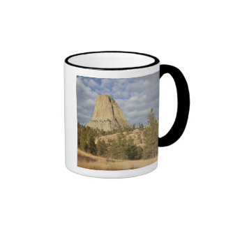 Devils Tower National Monument Ringer Coffee Mug