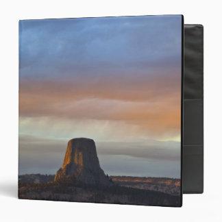 Devils Tower National Monument, Storm at Sunset Binder