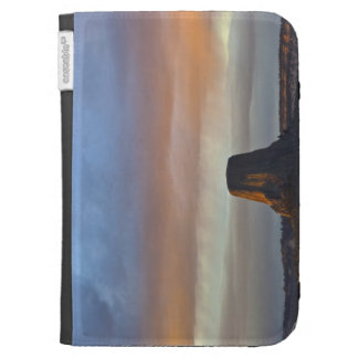 Devils Tower National Monument Storm at Sunset Kindle Folio Cases