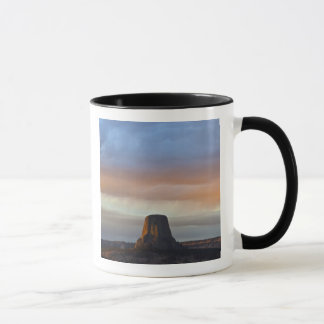 Devils Tower National Monument, Storm at Sunset Mug