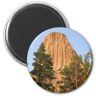 Devils Tower National Monument, Wyoming 2 Inch Round Magnet