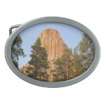 Devils Tower National Monument, Wyoming Oval Belt Buckle