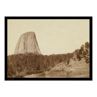 Devil's Tower or Bear Lodge WY 1888 Poster
