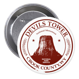 Devils Tower Pinback Button