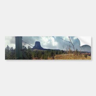 Devils Tower, ponderosa pine Bumper Sticker