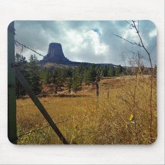 Devils Tower, ponderosa pine Mouse Pad