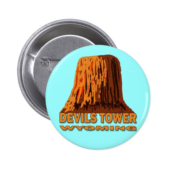 DEVILS TOWER WYOMING BUTTON