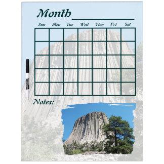 Devils Tower Wyoming Calendar Dry-Erase Board
