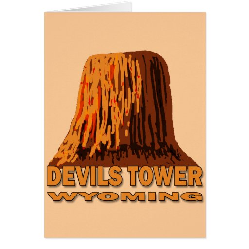 DEVILS TOWER WYOMING CARD