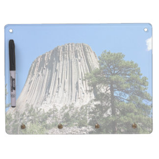 Devils Tower, Wyoming Dry Erase Board With Keychain Holder