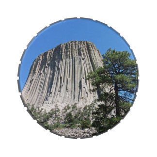 Devils Tower Wyoming Jelly Belly Candy Tin