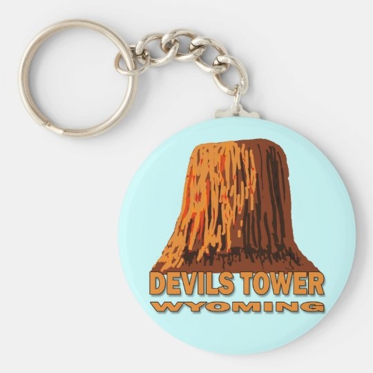 DEVILS TOWER WYOMING KEYCHAIN