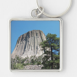 Devils Tower Wyoming Keychain