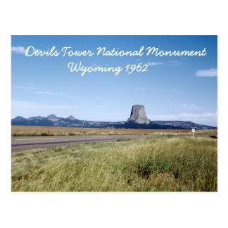 Devils Tower Wyoming Landscape Retro 1962 Postcard