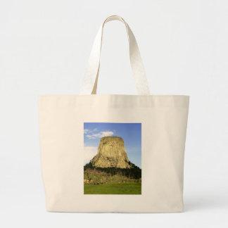 Devil's Tower, Wyoming Large Tote Bag