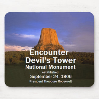 Devil's Tower Wyoming Mouse Pad