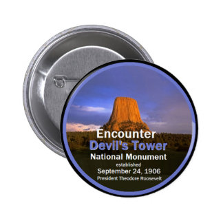 Devil's Tower WYOMING Pinback Button