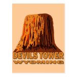 DEVILS TOWER WYOMING POST CARD
