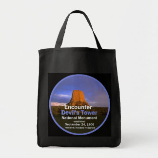 Devil's Tower Wyoming Tote Bag