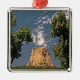 Devil's Tower , Wyoming , USA Metal Ornament