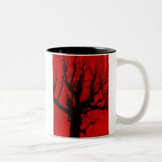 Devil's Tree. Two-Tone Coffee Mug