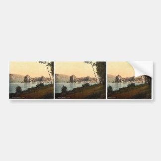 Devin and the Danube River, southwest Slovakia, ne Car Bumper Sticker
