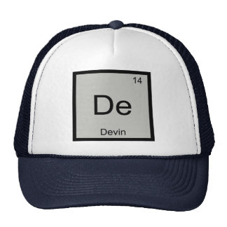 Devin Name Chemistry Element Periodic Table Trucker Hat