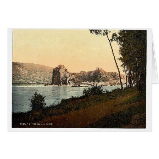 Devin y el río Danubio, sudoeste Eslovaquia, ne Tarjeta De Felicitación