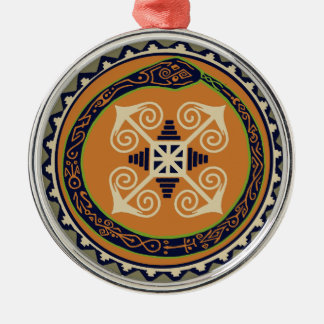 Devine Fire Wheel with Ouroboros Snake VooDoo Metal Ornament