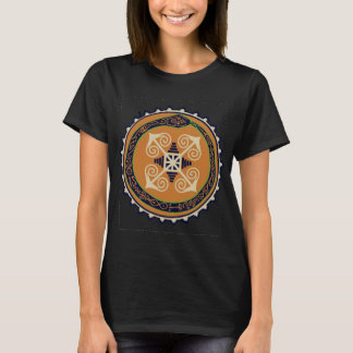 Devine Fire Wheel with Ouroboros Snake VooDoo T-Shirt