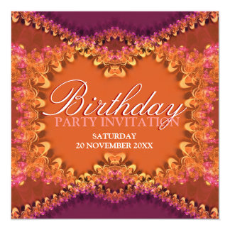 Devine Lace Frills Birthday Party Invitations