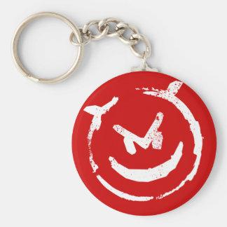 Devious 2 basic round button keychain