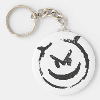 Devious Basic Round Button Keychain