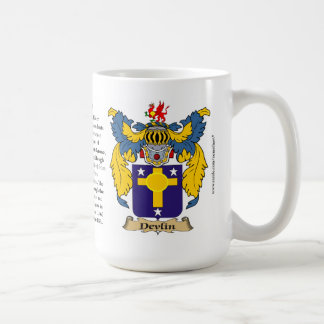 Devlin, el origen, el significado y el escudo taza de café