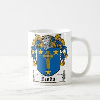Devlin Family Crest Classic White Coffee Mug
