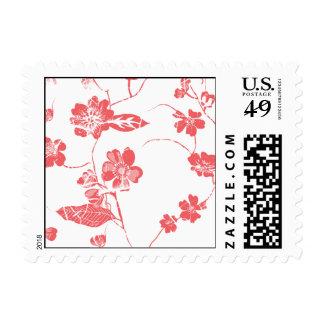 Devoir Ditsy Floral Persimmon Postage Stamp