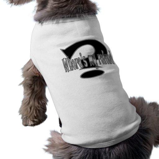 devolución playera sin mangas para perro