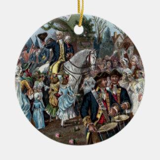 Devoluciones de George Washington a Trenton Adorno Redondo De Cerámica