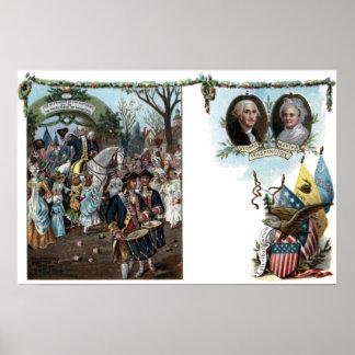 Devoluciones de George Washington a Trenton Poster