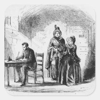 Devoluciones de señora Bagnet de su expedición Pegatina Cuadradas Personalizadas