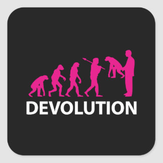 Devolution Evolution Funny Reissue Square Sticker