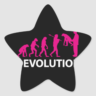 Devolution Evolution Funny Reissue Star Sticker