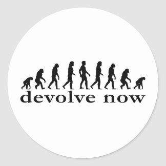 devolve now classic round sticker