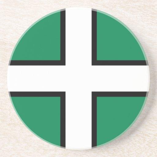 Devon, bandera de Reino Unido Posavasos Manualidades