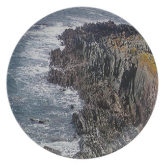 Devon Coastline Stoke To Noss Mayo Dinner Plate